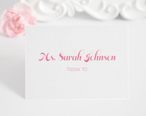 Delightful Script Place Cards