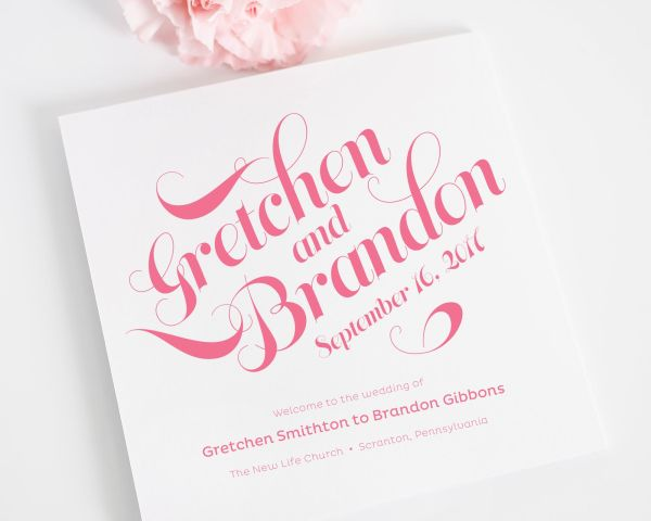 Delightful Script Wedding Programs