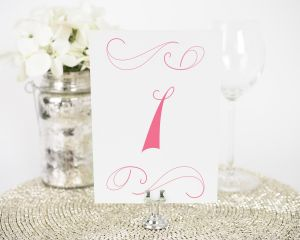 Delightful Script Table Numbers