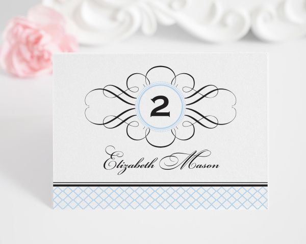 Elegance Monogram Place Cards