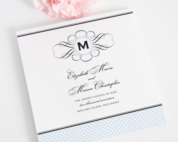 Elegance Monogram Wedding Ceremony Programs
