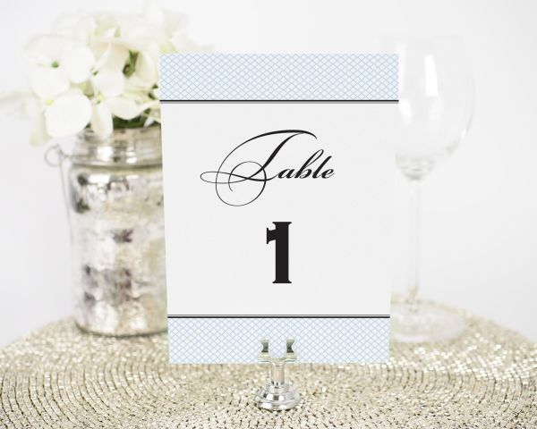 Elegance Monogram Table Numbers
