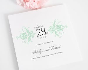 Elegant Damask Wedding Programs