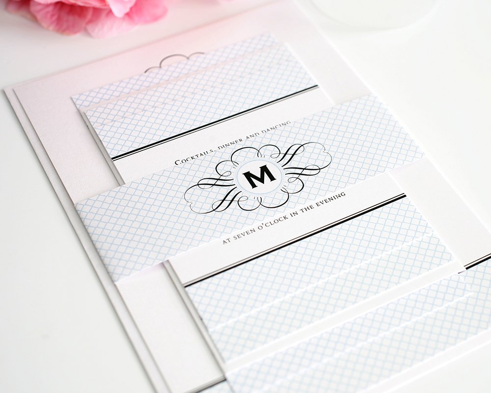 Elegance Monogram Wedding Invitations Wedding Invitations By Shine