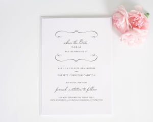French Country Save the Date Cards