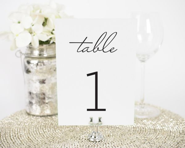 French Country Table Numbers