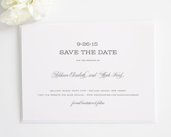 French Garden Save the Date Cards