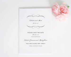 French Romance Save the Date Cards