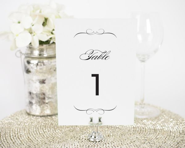 French Romance Table Numbers