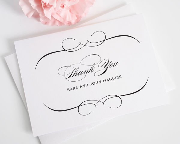 French Romance Thank You Cards