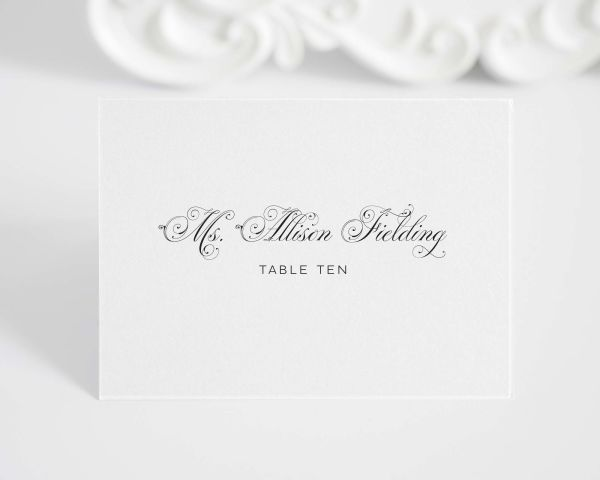 Glamorous Script Place Cards