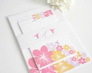 Tropical Hummingbird Wedding Invitations