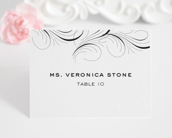 Luxe Flourish Place Cards