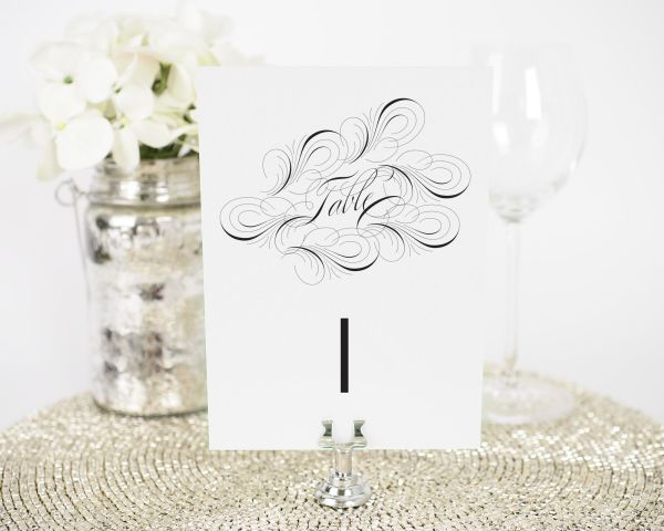 Luxe Flourish Table Numbers