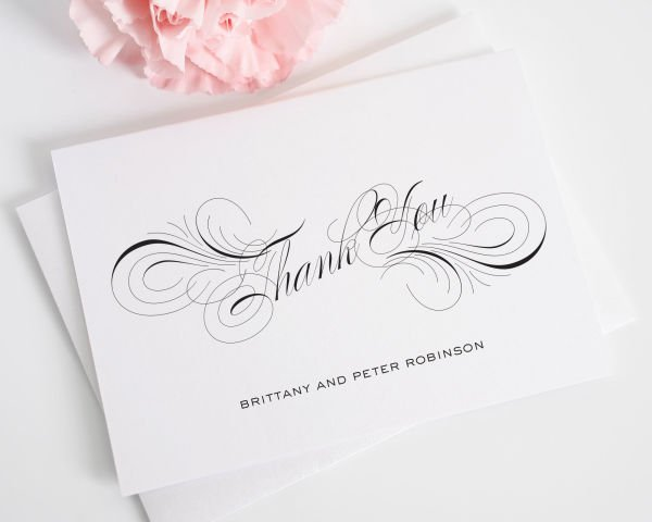 Luxe Flourish Thank You Cards