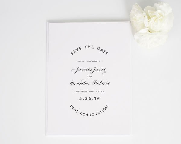 Marriage Label Save the Date Cards