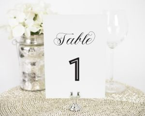 Marriage Label Table Numbers