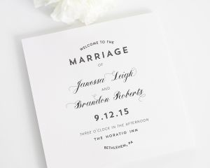 Marriage Label Wedding Programs