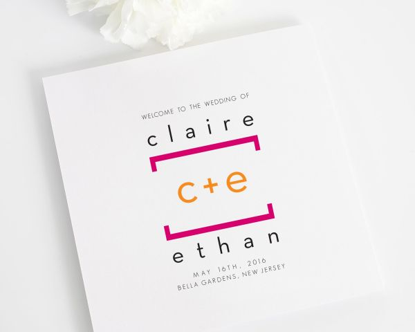 Math Love Wedding Ceremony Programs