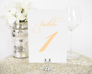 Medallion Monogram Table Numbers