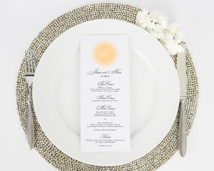 Medallion Monogram Wedding Menus