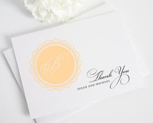 Medallion Monogram Thank You Cards