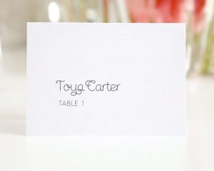 Minimalist Place Cards