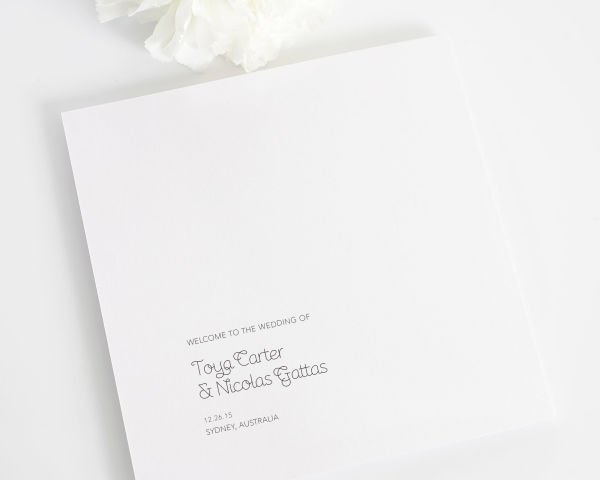 Minimalist Wedding Programs
