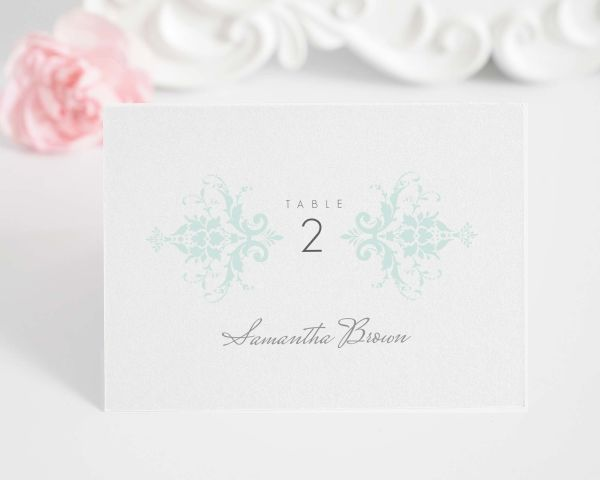Elegant Damask Place Cards