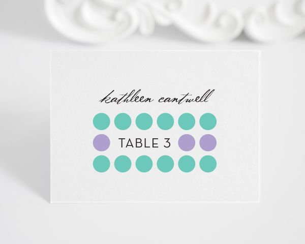 Modern Circles Place Cards
