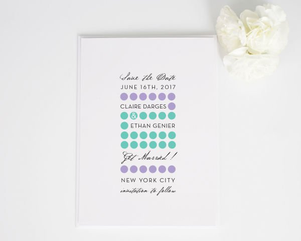 Modern Circles Save the Date Cards