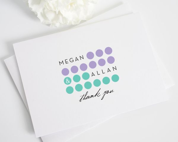 Modern Circles Thank You Cards
