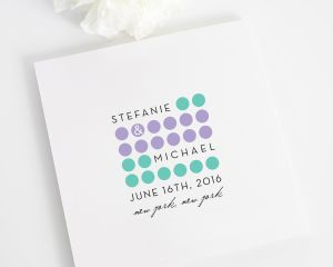 Modern Circles Wedding Programs