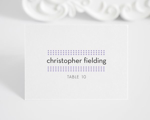 Modern Dots Place Cards