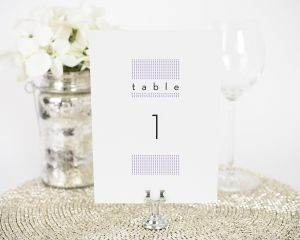 Modern Dots Table Numbers
