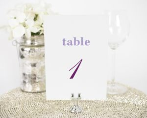 Modern Elegance Table Numbers