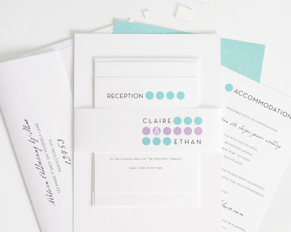 Modern Circles Wedding Invitations