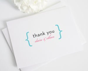 Addition of Love Script Thank You Cards