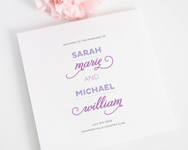 Modern Whimsy Wedding Programs