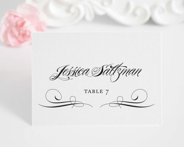 Ravishing Script Place Cards – Style A