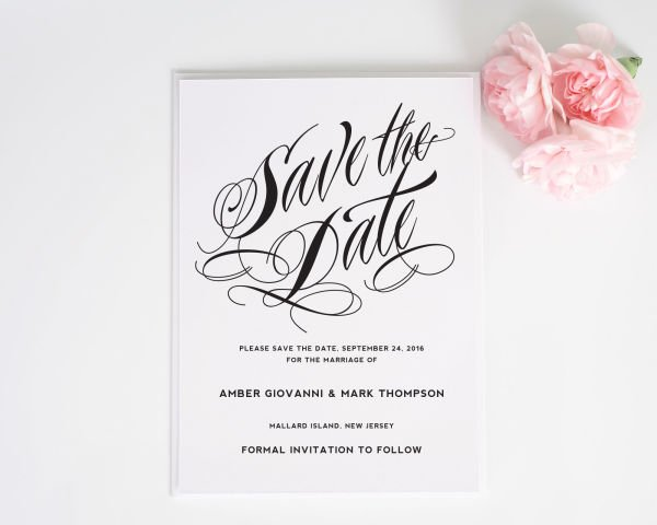 Ravishing Script Save the Date Cards