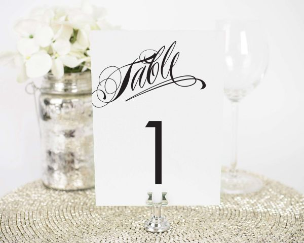 Ravishing Script Table Numbers