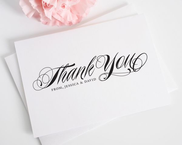 Ravishing Script Thank You Cards