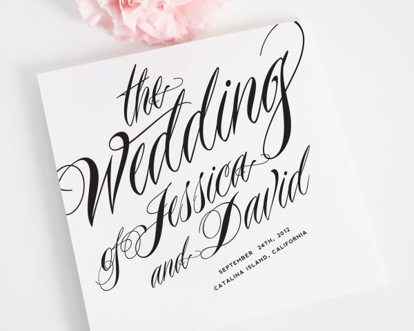 Ravishing Script Wedding Ceremony Programs