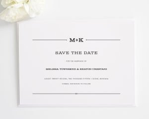 Rustic Simplicity Save the Date Cards