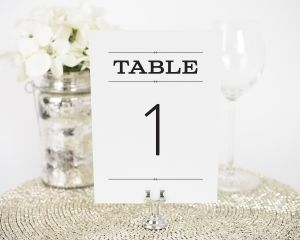 Rustic Simplicity Table Numbers