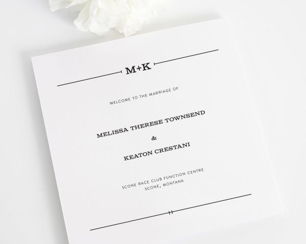 Rustic Simplicity Wedding Programs