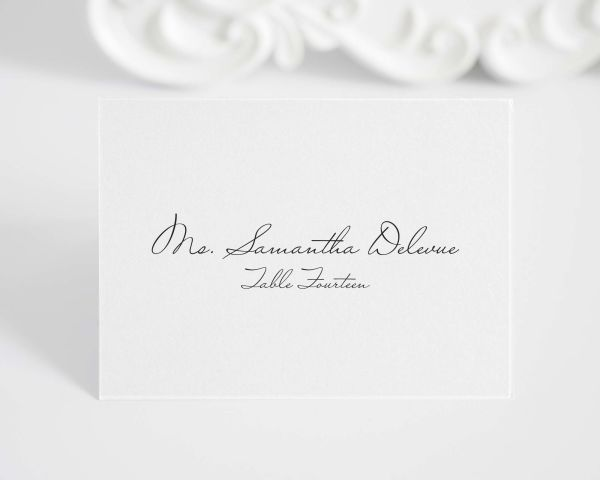 Schoolhouse Script Place Cards
