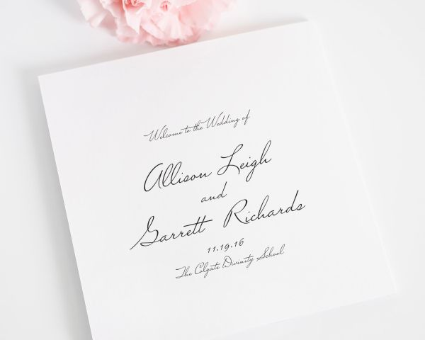 Schoolhouse Script Wedding Programs