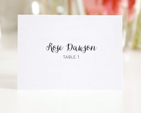 Stylish Script Place Cards